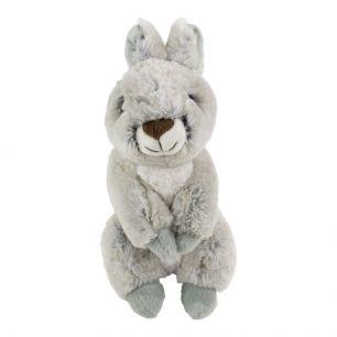 Knuffel konijn grijs zittend 21cm*